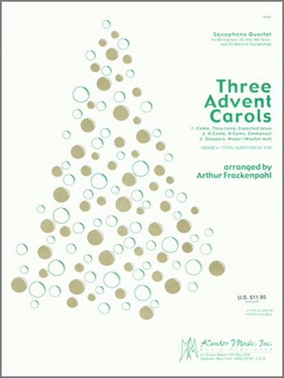 Picture of Three Advent Carols - Eb Baritone Saxophone