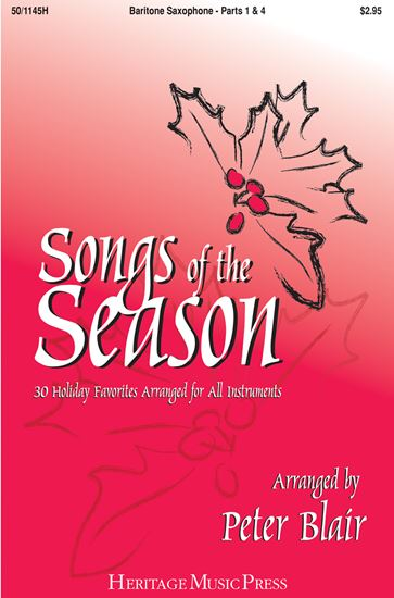 Picture of Songs of the Season - Baritone Saxophone (Parts 1 & 4)