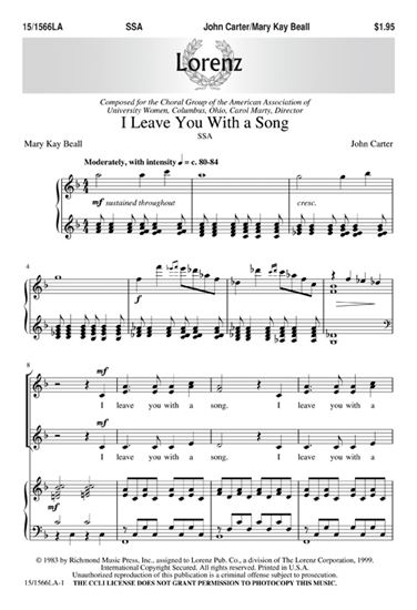 Picture of I Leave You with a Song