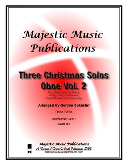 Picture of Three Christmas Solos-Oboe, Vol. 2